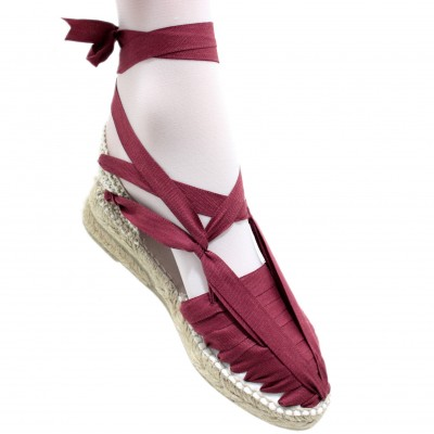 Espadrille Wedge High Pintxo Maroon