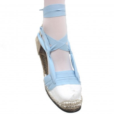 Espadrilles Tres Vetes Light Blue