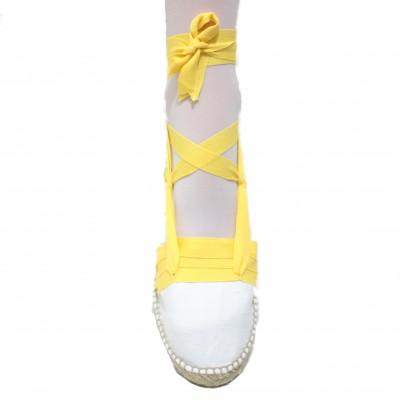 Mid Heel Espadrilles Tres Vetes Yellow