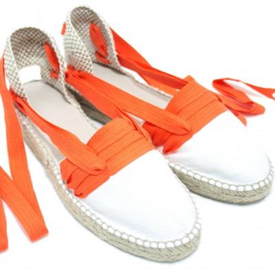 Mid Heel Espadrilles Tres Vetes Orange